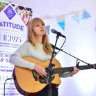 Lucy Rose performs at the launch of the 2017 Latitude Festival at Henham Park, Suffolk. Picture: