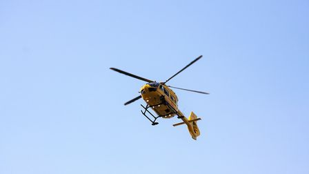 A man was airlifted to hospital from Walcott. Pictures: Maurice Gray