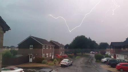Lightning over Norwich. Picture: David Long