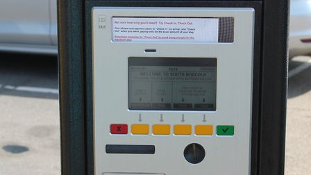 One of the new car parking ticket machines run by South Norfolk Council. Picture: South Norfolk Coun