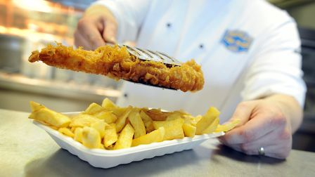 French's Fish & Chip Shop is celebrating 90 years of business in Wells - Fish and chips being served