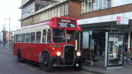 A Bristol L bus, part of which was built in Lowestoft, which was operated by Eastern Counties bus op