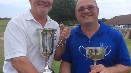 New Links Country Park club champions Eddie Baker, left, and Irving Newton. Picture: Club