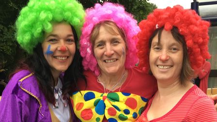 Nursery nurse Suzanne Hall (centre) who is retiring after 23 years at Hethersett Woodside Infant and