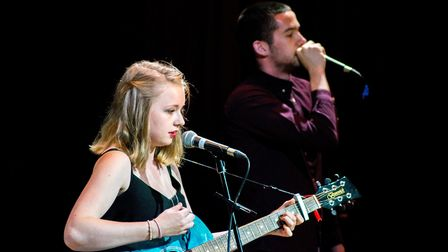 Chloe Smith and Harry Harness performing at the 'Class of '17' end of year gig. Pictures: Ella-Rose