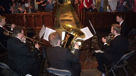 The scene in the church as the concert reached its climax. Picture: Terry Reeve.