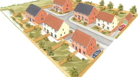 Artist's impression of a new development in Mileham at Burghwood Yard. Picture: Breckland Council