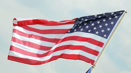 The American flag on display at the Fourth of July celebrations which used to be held at RAF Feltwel