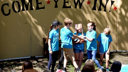 Community theatre show 'Come Yew In' performed at Ketts Heights, Norwich. Youngsters from Lionwood j