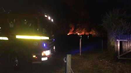 Vehicles set on fire in Hapton. Picture: Aaron Bleach