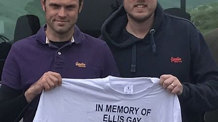 Dan Gay (left) and Mark Guy (right) completed the three peaks challenge in memory of their father, f