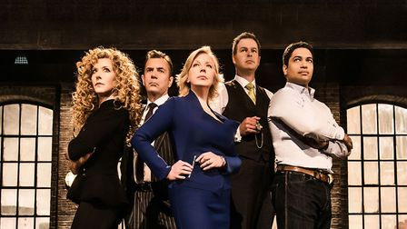 The line up of Dragon's Den. Picture: PA Photo/Andrew Farrington/BBC.