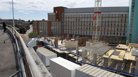 Work on the 244-bed Alumno student flats development on the former Mecca Bingo site in All Saints Gr