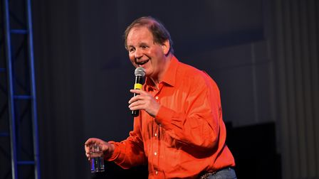 Children's author Michael Morpurgo giving a talk to young people at Open as part of Young Norfolk Ar