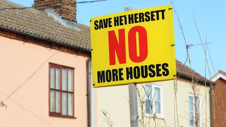 Opposition to new homes on the outskirts of Hethersett in 2012. Photo: Bill Smith