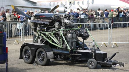 The Merlin engines which will be on display. Photo: Historic Aero Engines