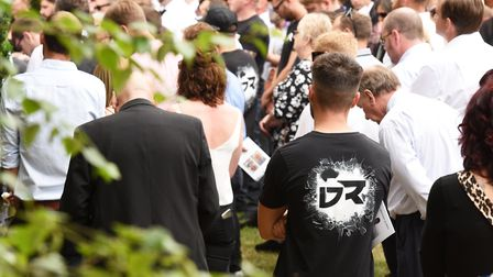 Funeral of Neil Aldred, DJ Dominator at Ringsfield Church, Beccles.Picture: Nick Butcher