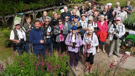 Members of the Norfolk, Suffolk and Essex IWitness groups at Fairhaven gardens, South Walsham.Pictu