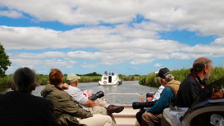 iWitter boat trip along the River Bure. Photo: Lydia Taylor