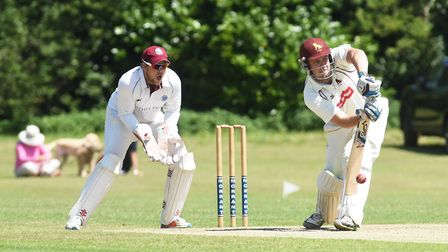 Action from Swardeston's win over Sudbury at the weekend. Picture: Nick Butcher