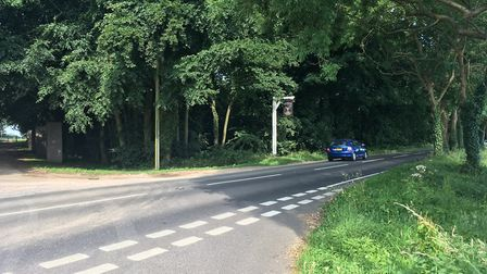 A man in his 80s died when his car left the A149 Cromer Road near North Walsham. Photo: David Bale