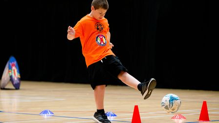 Albert Pye's star pupil Riley Barber in the Panathlon Primary Finals at the Olympic Copper Box Arena