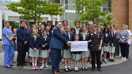 Junior school girls from Norwich High School for Girls have raised more than �5,000 for the maternit