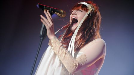 Florence Welch from Florence and the Machine headlines on the main stage on the first day of the 201