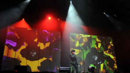 The Pet Shop Boys headline the main stage on day 1 of the 2009 Latitude festival. Photo: Ashley Pick