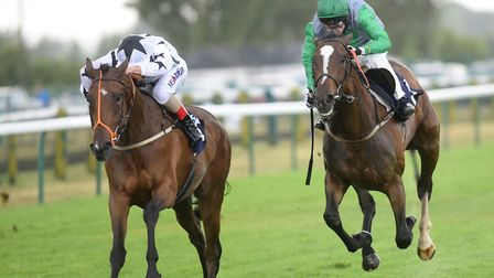 Glorvina wins the second race at Yarmouth.Picture: Nick Butcher