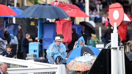 Taking cover at Yarmouth.Picture: Nick Butcher
