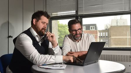 Jamie Brown and Steve Philp from Archant. Picture : ANTONY KELLY