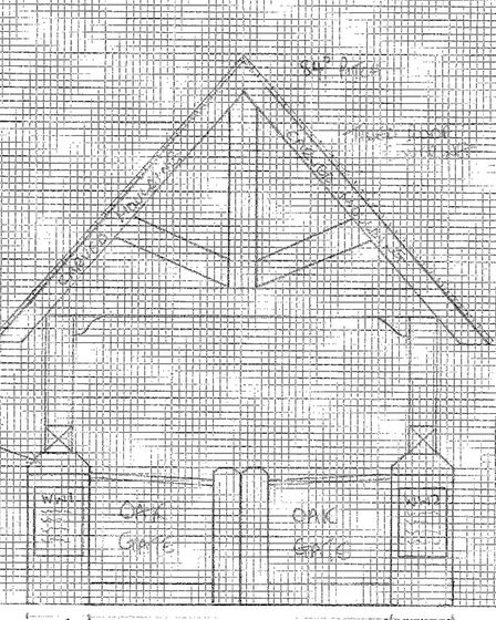 The approved design for Chedgrave's lychgate memorial project. Picture: Courtesy of Chedgrave Parish