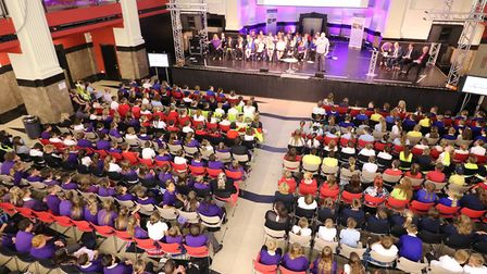 The Big Sing event at Open, in Norwich, which saw 600 year six pupils wave farewell to their time at