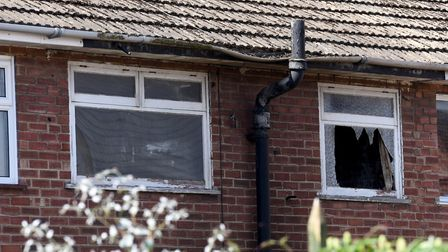Scene of of a house fire in Stanley Street, Lowestoft.Picture: Nick Butcher