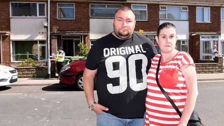 Scene of of a house fire in Stanley Street, Lowestoft.Scott Howlett and Paula Smith.Picture: Nick