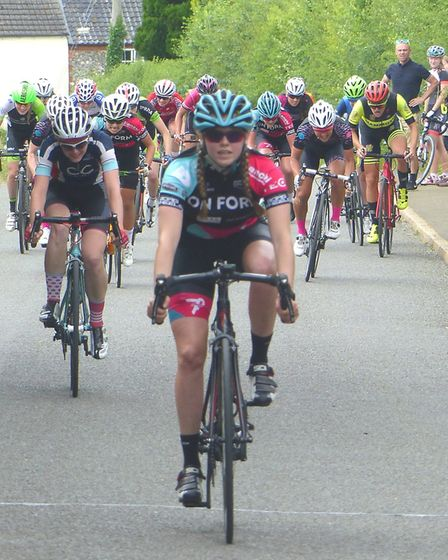 Emily Ashwood (OnForm) takes the win at the VC Norwich Women's Road Race. Picture: Fergus Muir