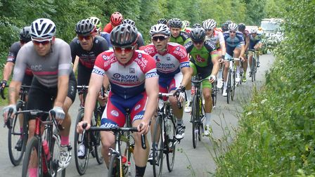VC Norwich eventual winner Ian Lee (RAFCA) leads this group. Picture: Fergus Muir