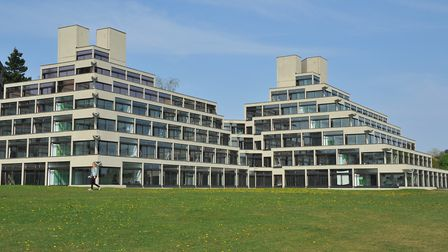 The Ziggurat buildings at the University of East Anglia. Picture: Simon Finlay