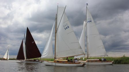 Action from the EACC River Cruiser Class Open at Thurne Mouth at the weekend. Picture: Sue Hines