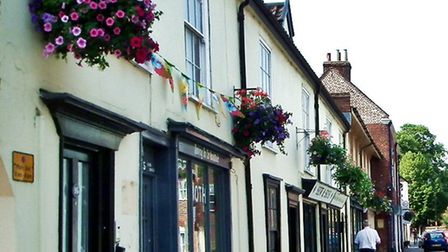 The Bungay in Bloom team have decorated the town with a riot of colour theme. Picture: Didy Ward.