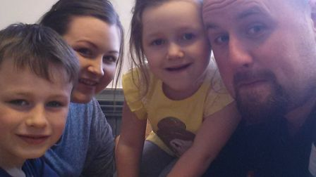 Terri and Gareth Chandler with their children Jack, six, and Grace, four. Picture: Courtesy the Chan