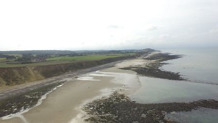 Aerial shots taken of the West Runton reef via drone. Picture: Dr Christopher Jeans, Dr Christopher