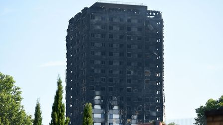 Grenfell Tower in west London after a fire engulfed the 24-storey building on Wednesday June 14. Pho