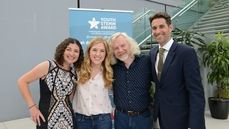 YSA co-founder Samantha Fox, Maddie Moate, Marty Jopson, YSA co-founder Simon Fox. Picture: Simon Fi