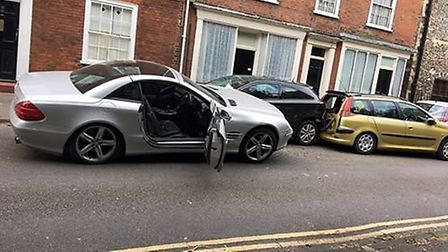 The scene of the crash in Tolhouse Street, Great Yarmouth. Photo: Anonymous