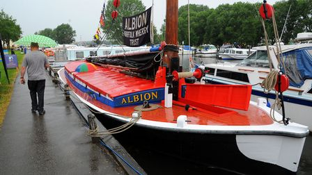 One of the boats on display at a previous Beccles Charter Weekend. Picture: Steve Adams.