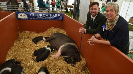 Royal Norfolk Show 2017, day one. Jimmy Doherty with Gail Sprake from the RBST. Picture : ANTONY KEL