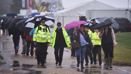 Royal Norfolk Show 2017. The rain pouring on the morning of the first day. Picture : ANTONY KELLY