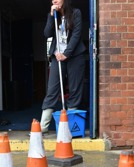 Headteacher Victoria McConnell at Wensum Junior School has closed the school following flooding afte